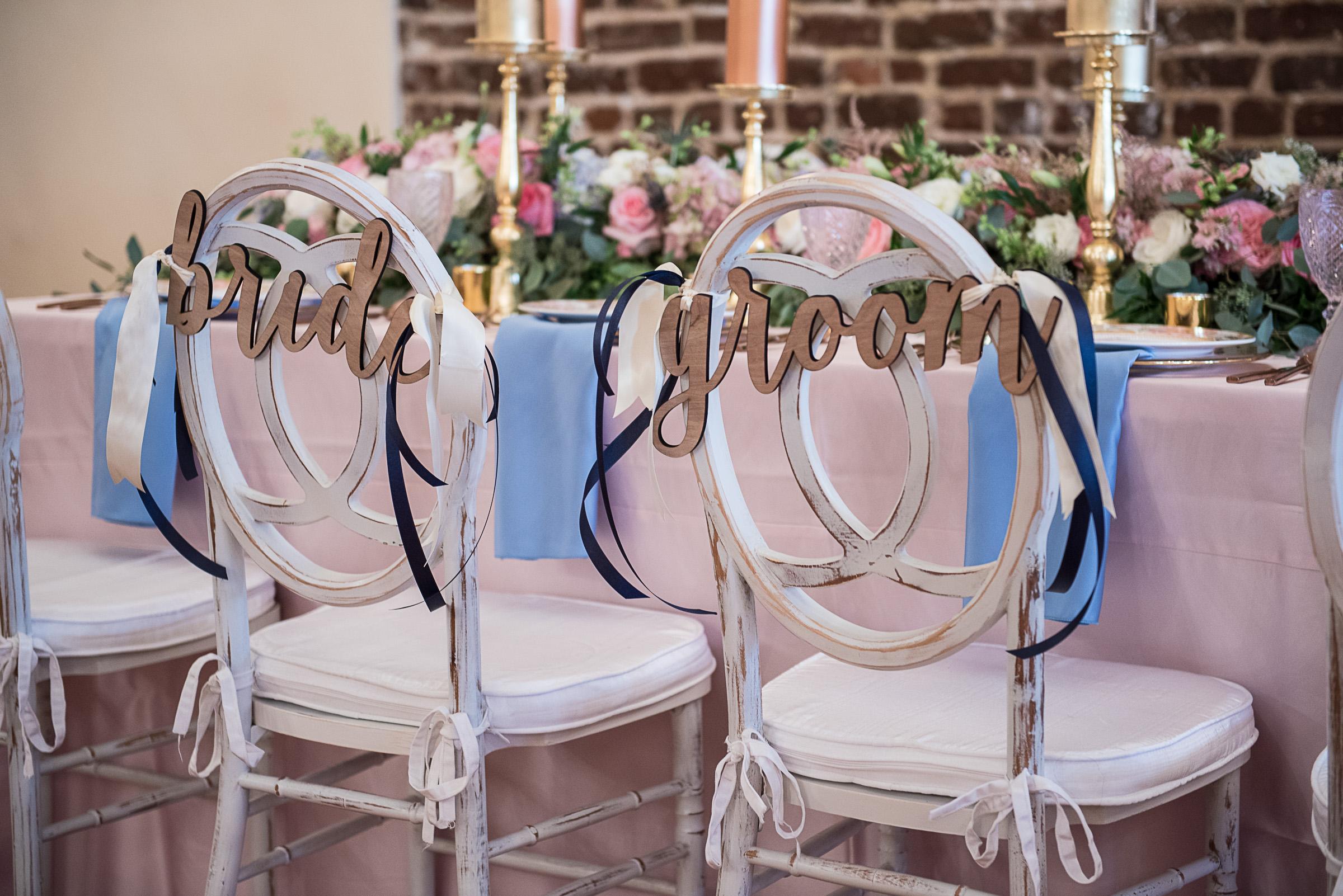Charleston wedding chairs from Eventworks Rentals