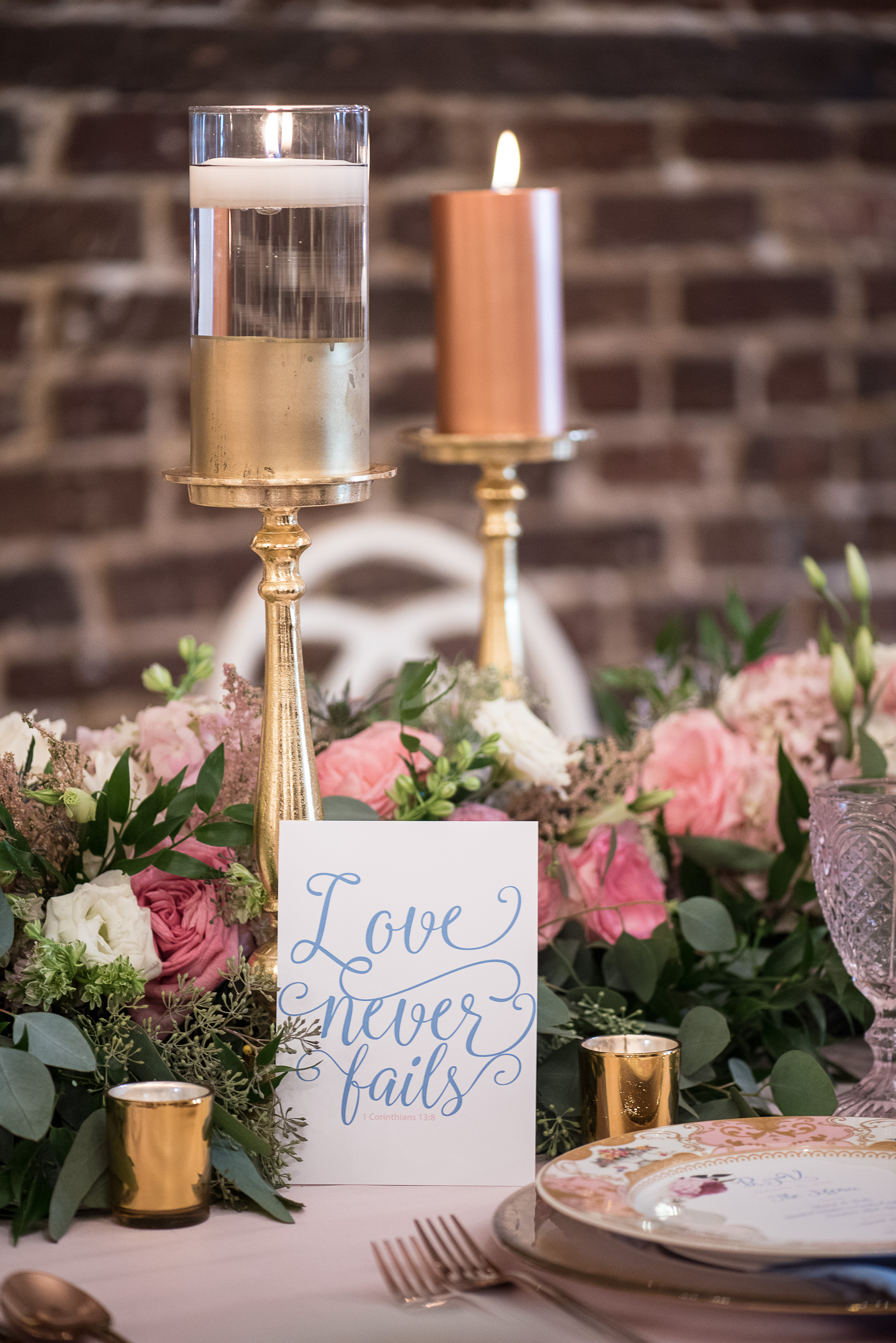 Gold, pink and blue wedding inspiration for Behind The Veil: Wedding Planner Intensive