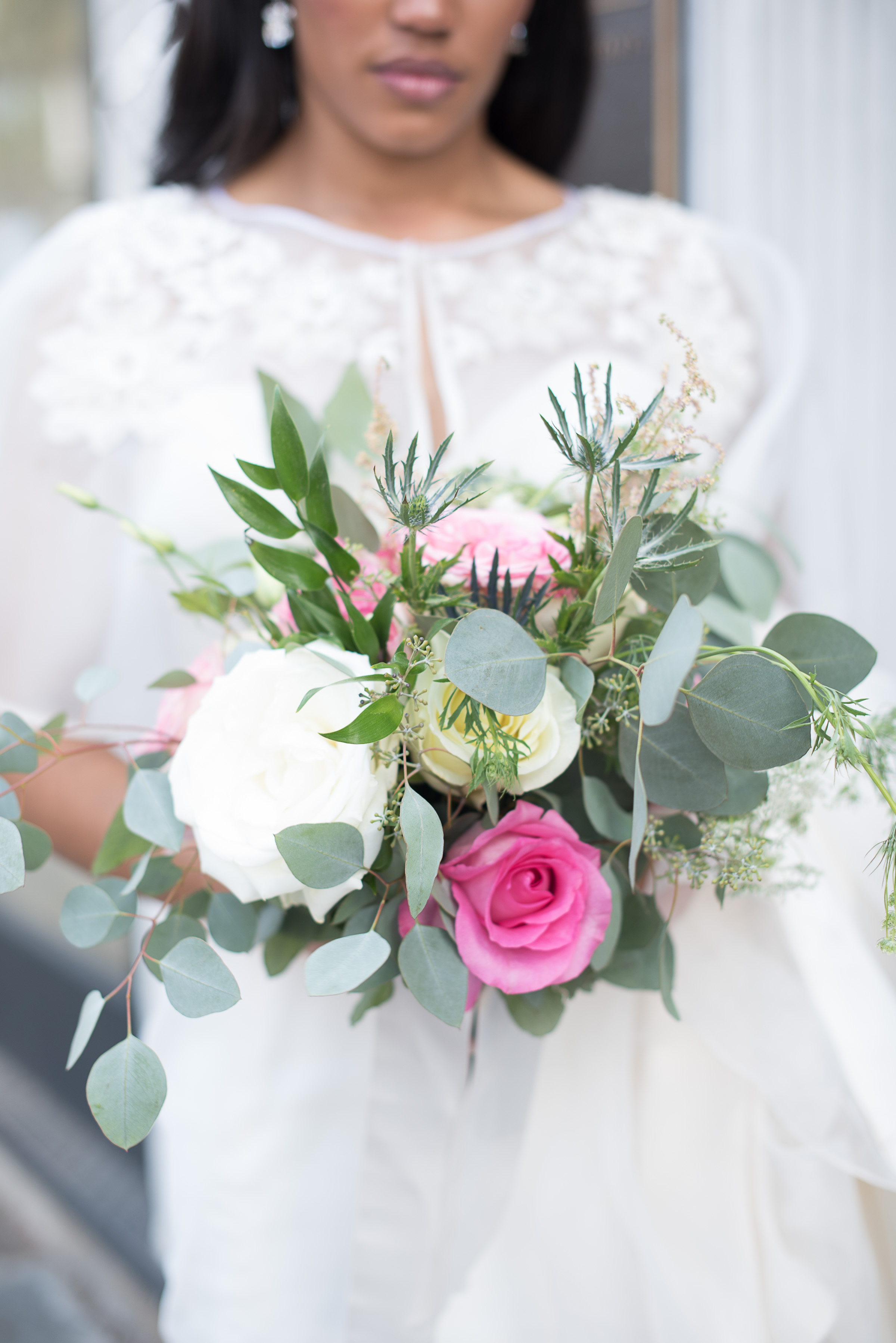 Charleston wedding bouquet at Marion's in the French Quarter