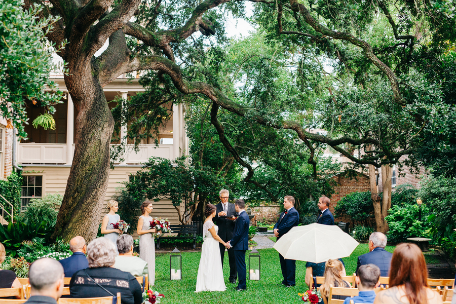 Outdoor wedding ceremony at Confederate Home