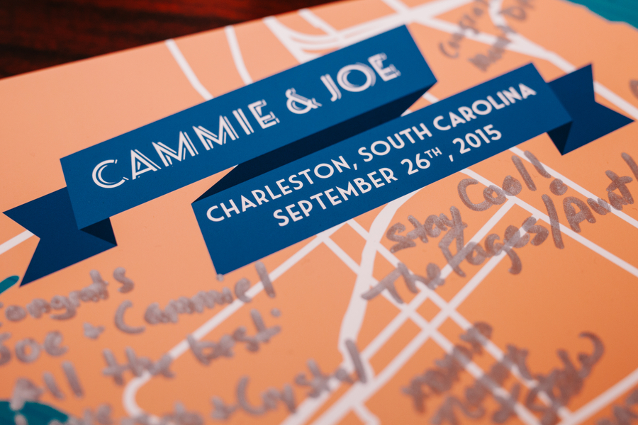 Custom Charleston wedding book by Riverland Studios