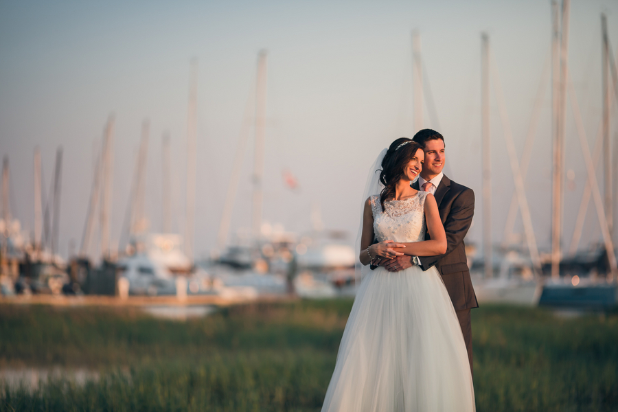 May wedding overlooking the water in Charleston, South Carolina