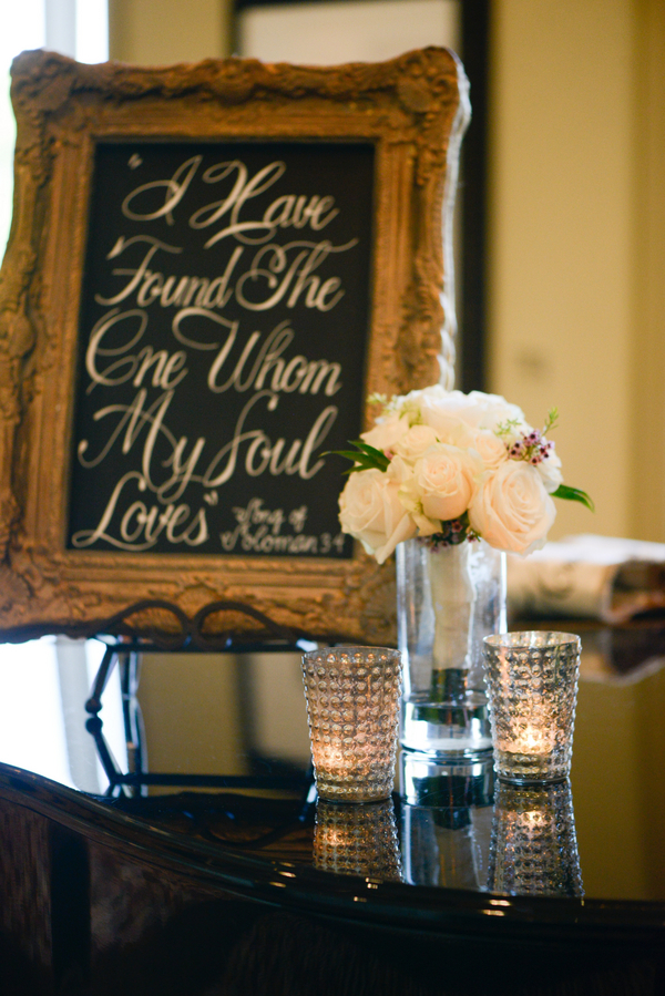 Chalkboard wedding signs with handlettering