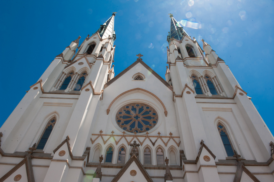 Traditional ceremony at The Cathedral of St. John the Baptist in Savannah, Georgia