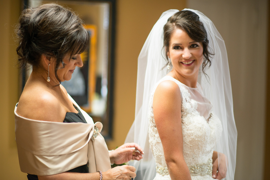 Mother of the Bride and daughter before ceremony