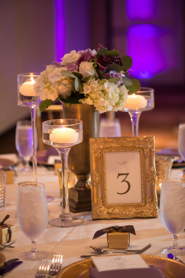 Glamorous gold + purple wedding design by Posh Petals & Pearls
