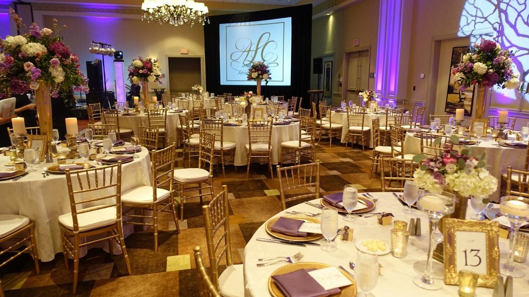 Glamorous wedding reception at The Westin Savannah Harbor Golf Resort & Spa