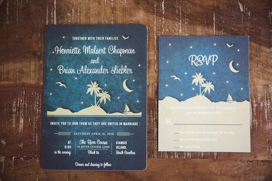 South Carolina wedding invitations