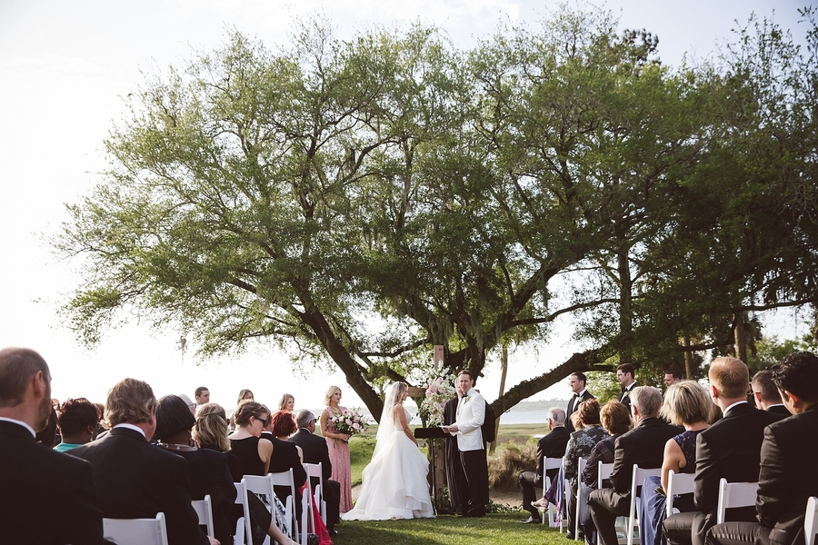 Outdoor wedding ceremony at Kiawah Island's River Course