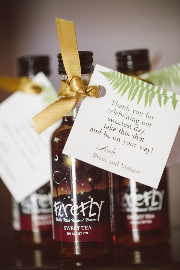 Firefly sweet tea vodka favors for guests