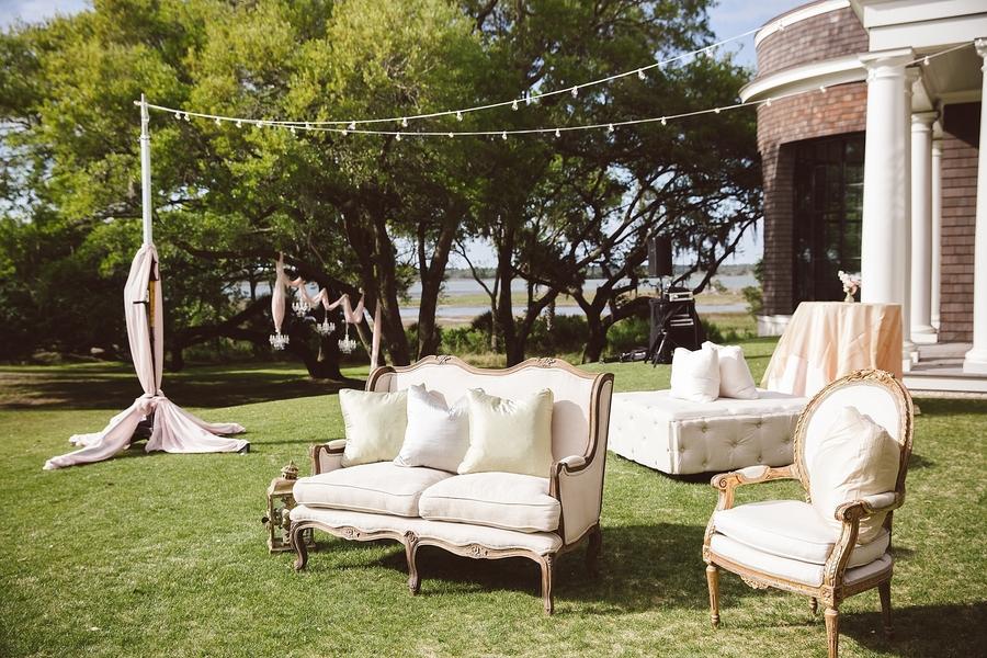 Elegant lounge furniture for Spring wedding