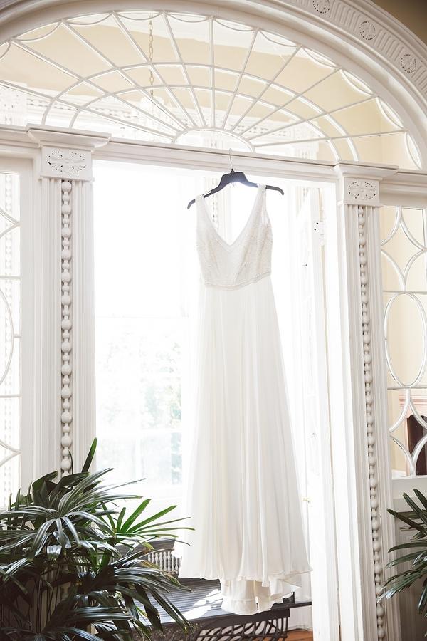Charleston wedding gown at the Thomas Bennett House