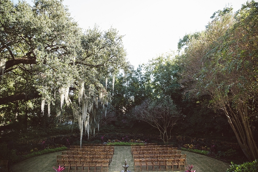 Outdoor ceremony at The Governor Thomas Bennett House
