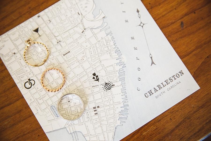 Custom Charleston wedding map