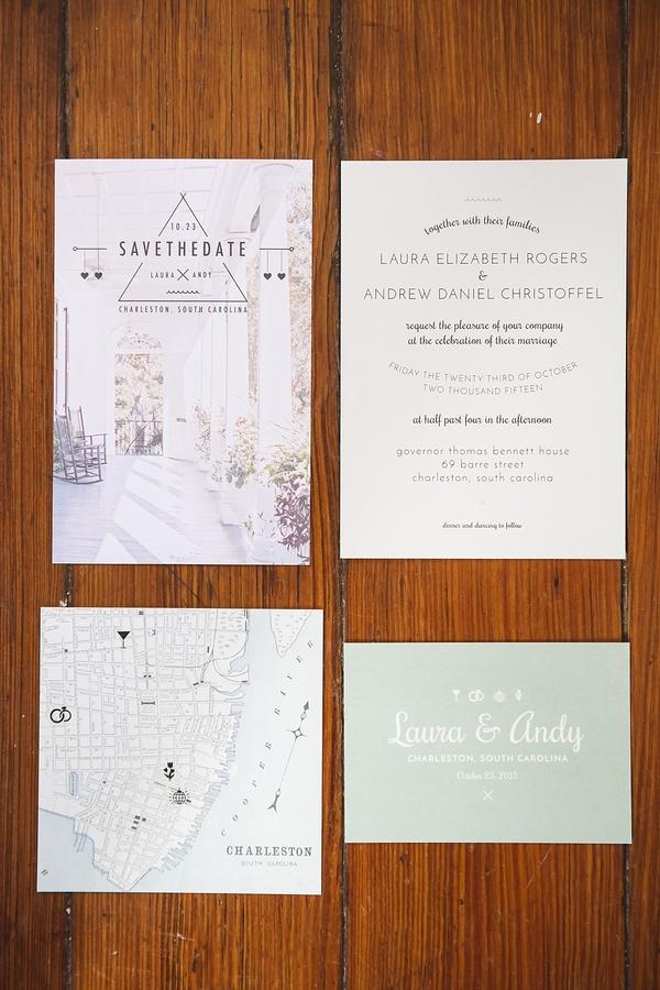 Custom Charleston wedding invitations
