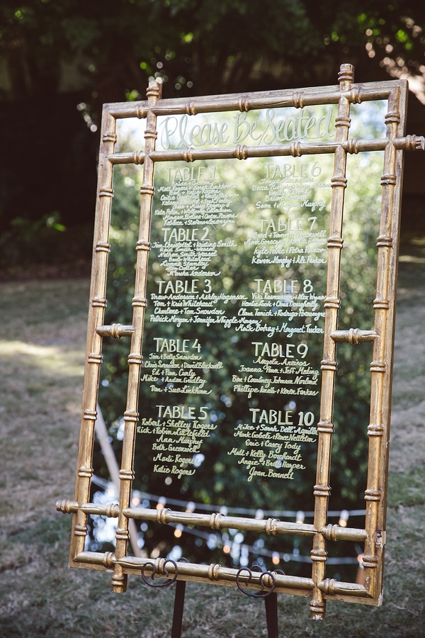 Hand lettered mirrored sign by The Burlap Elephant