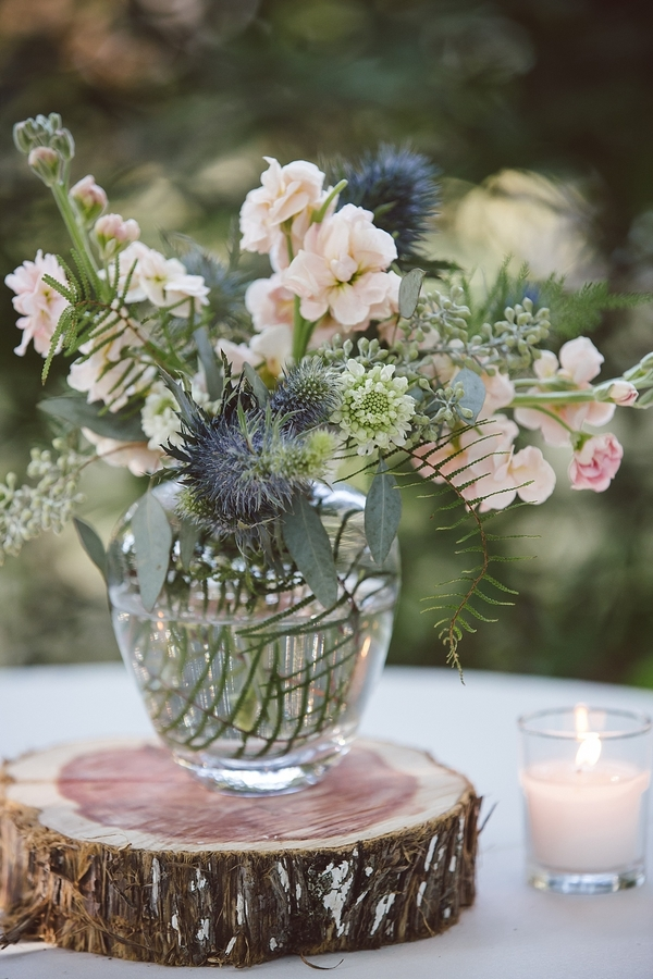Rustic centerpieces from Ooh! Events