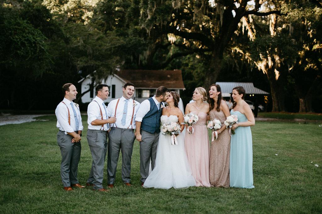 Charleston wedding party
