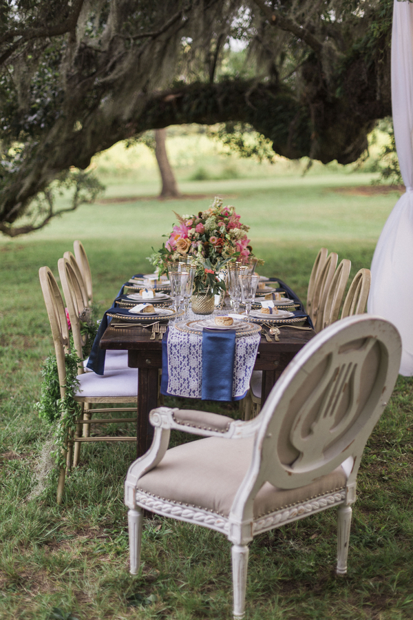 Glamorous McLeod Plantation wedding event design by Teleios Events