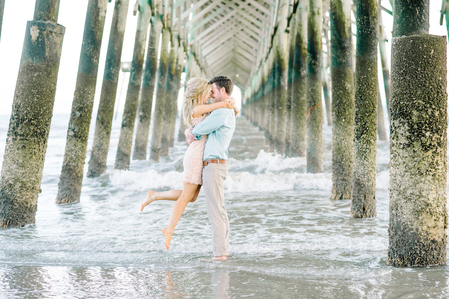 Shelby + Jeremiah's Coastal engagement session in Charleston, SC by Aaron and Jillian Photography