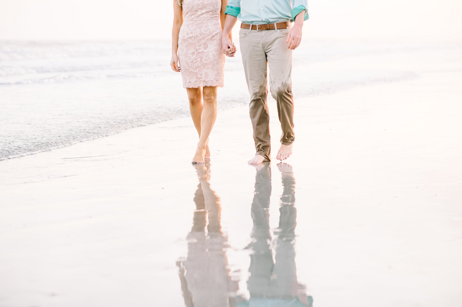 Shelby + Jeremiah's Beach engagement session in Charleston, SC by Aaron and Jillian Photography