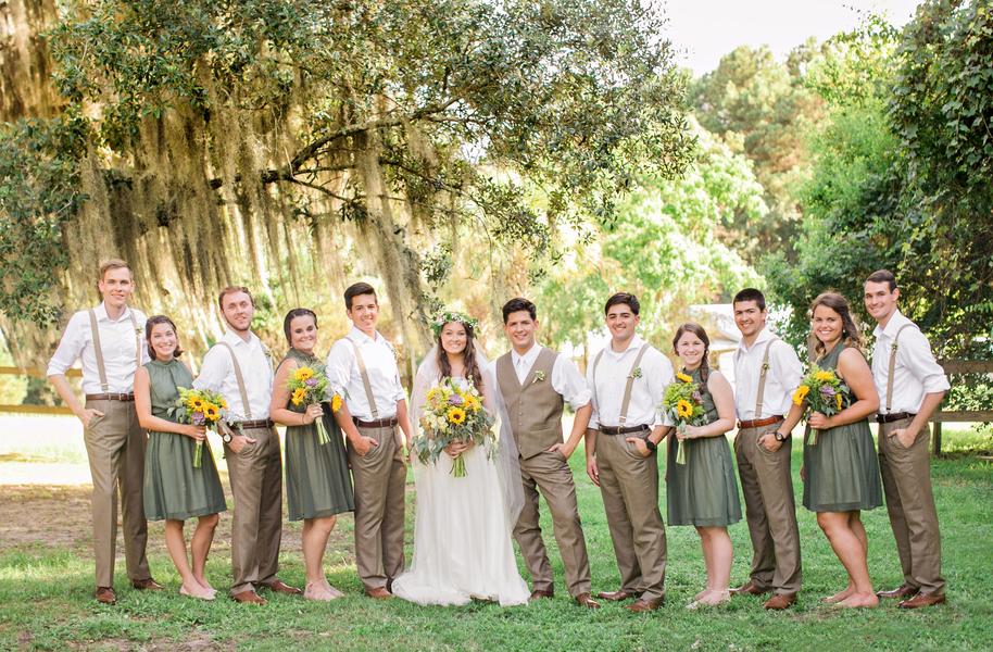 Rustic wedding at Red Gate Farms in Savannah, Georgia
