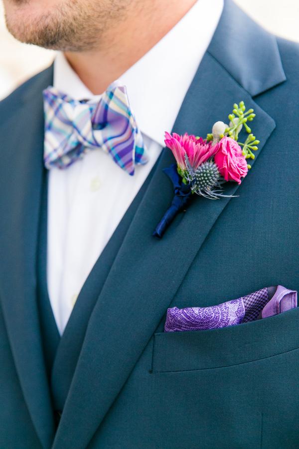 Navy + Purple wedding at Creek Club at I'On