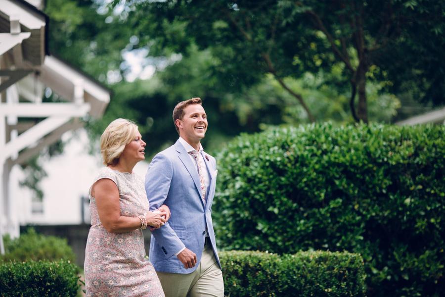 NASCAR Driver Trevor Bayne at Lowndes Grove Plantation wedding in Charleston, SC