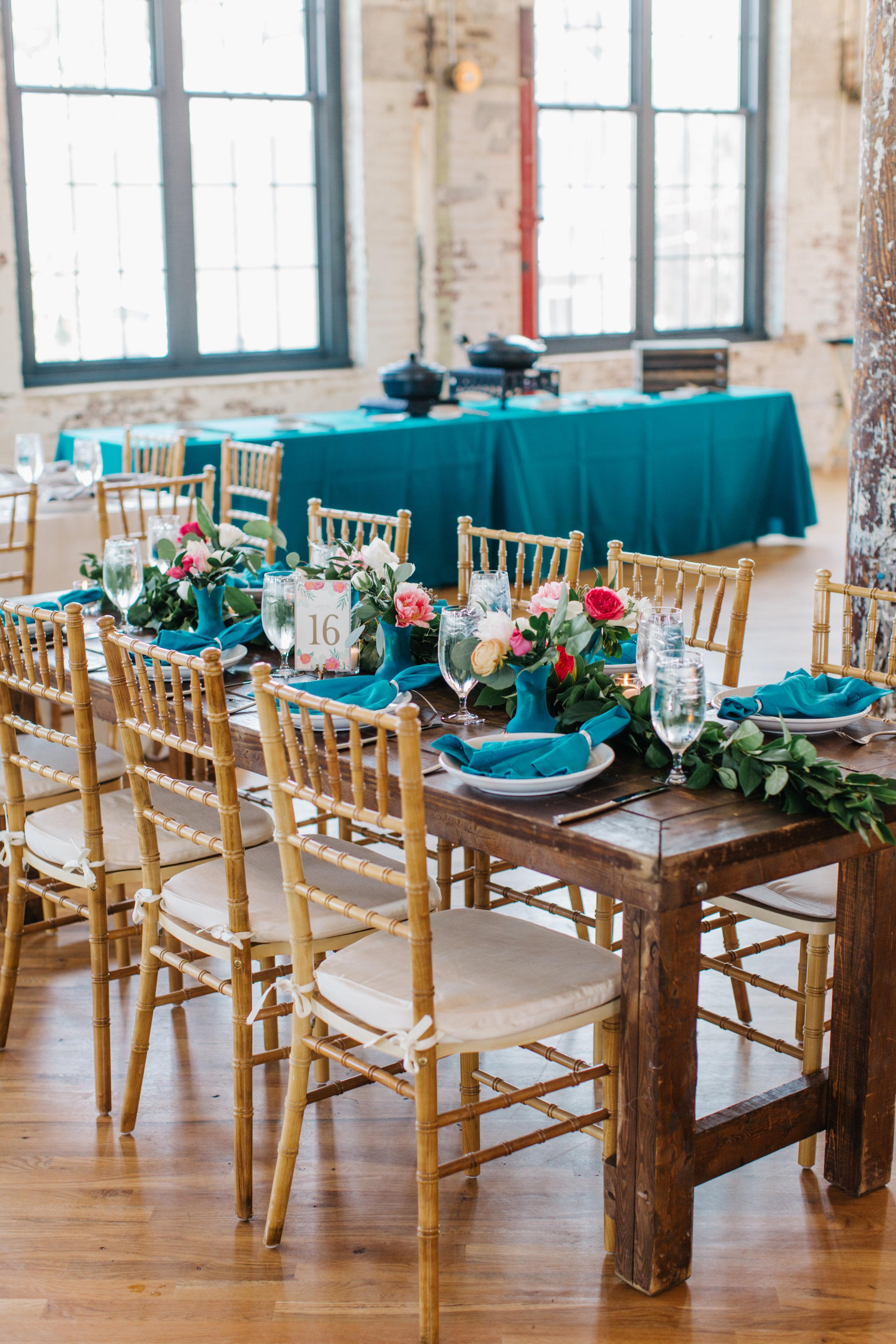 Colorful wedding at The Cedar Room by A Charleston Bride