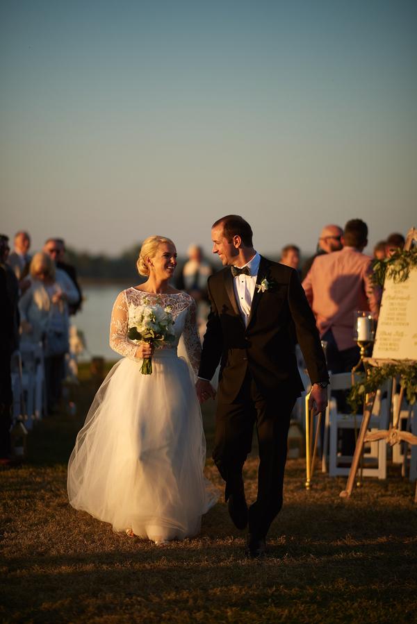 Gold Charleston wedding at The Island House