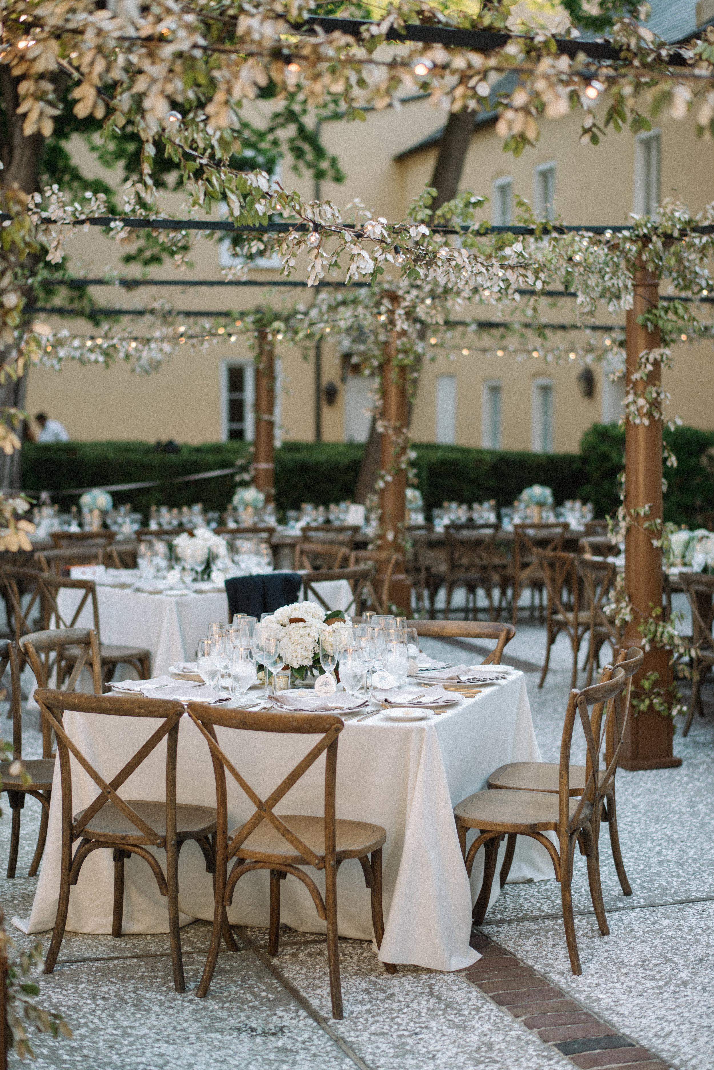 Open-air reception at The William Aiken House in Charleston, SC