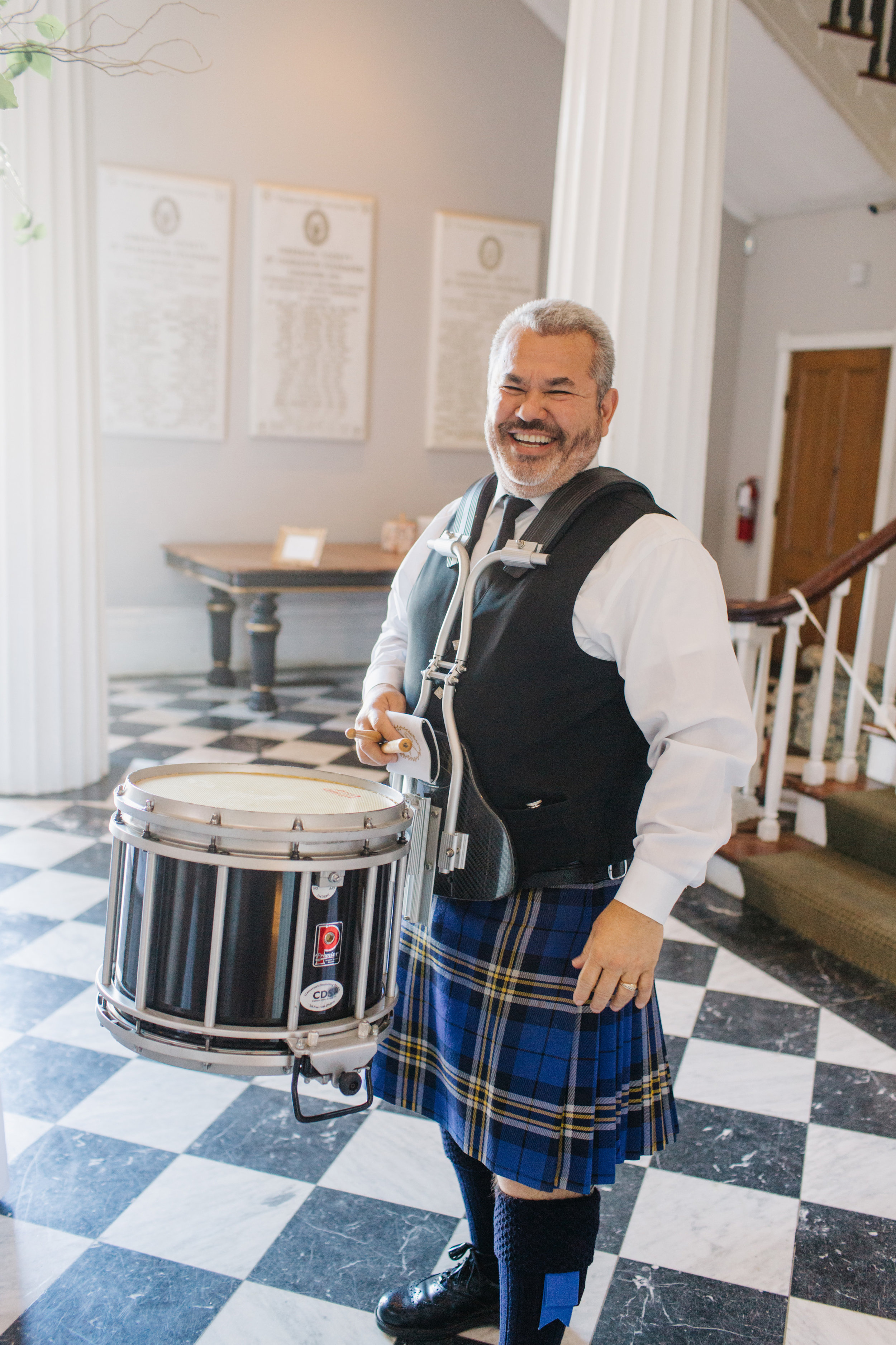 Bagpiper at Hibernian Hall wedding by A Charleston Bride