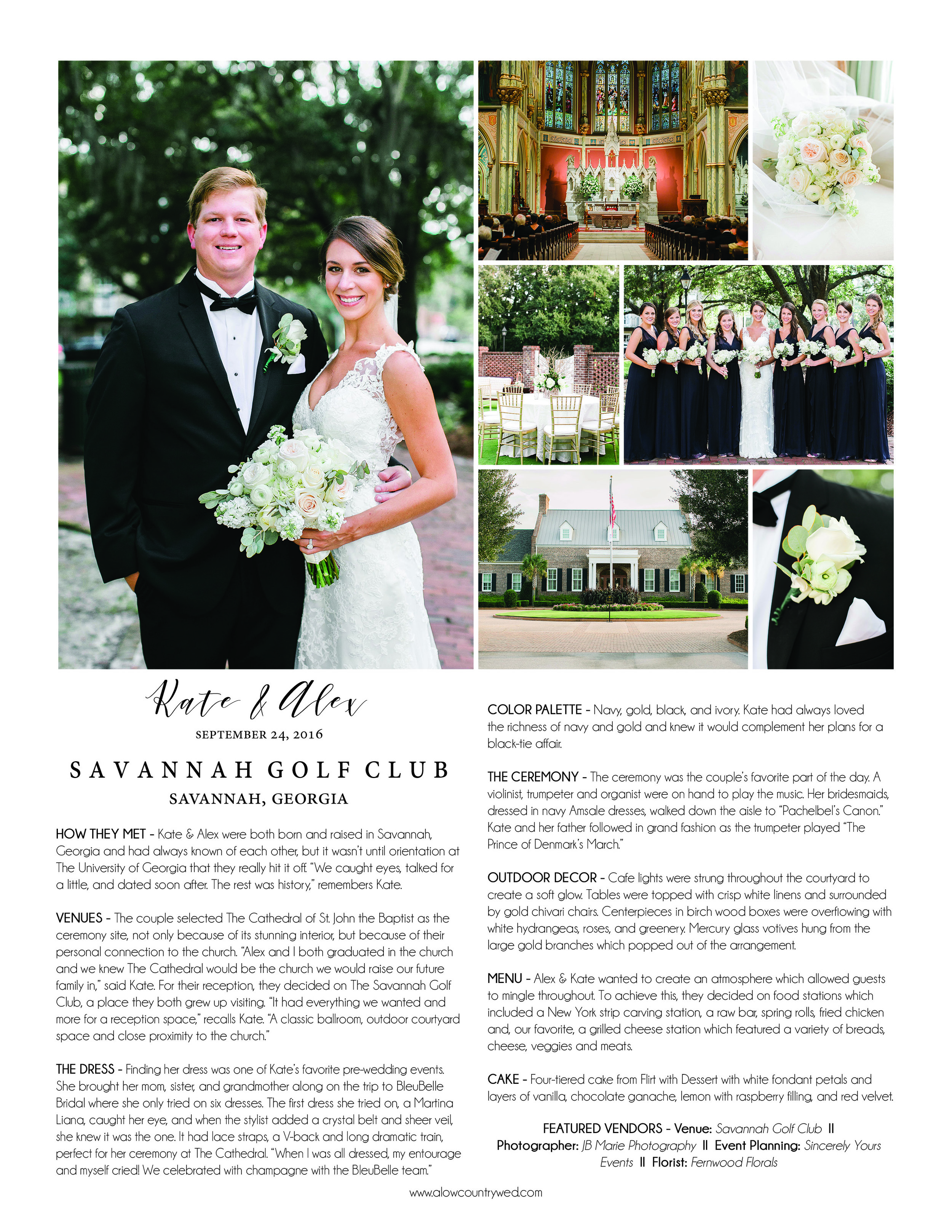 A Lowcountry Wedding Magazine - Announcements