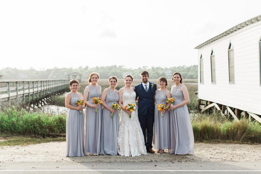 Coastal wedding in Pawleys Island, SC by Hannah Woodard Photography