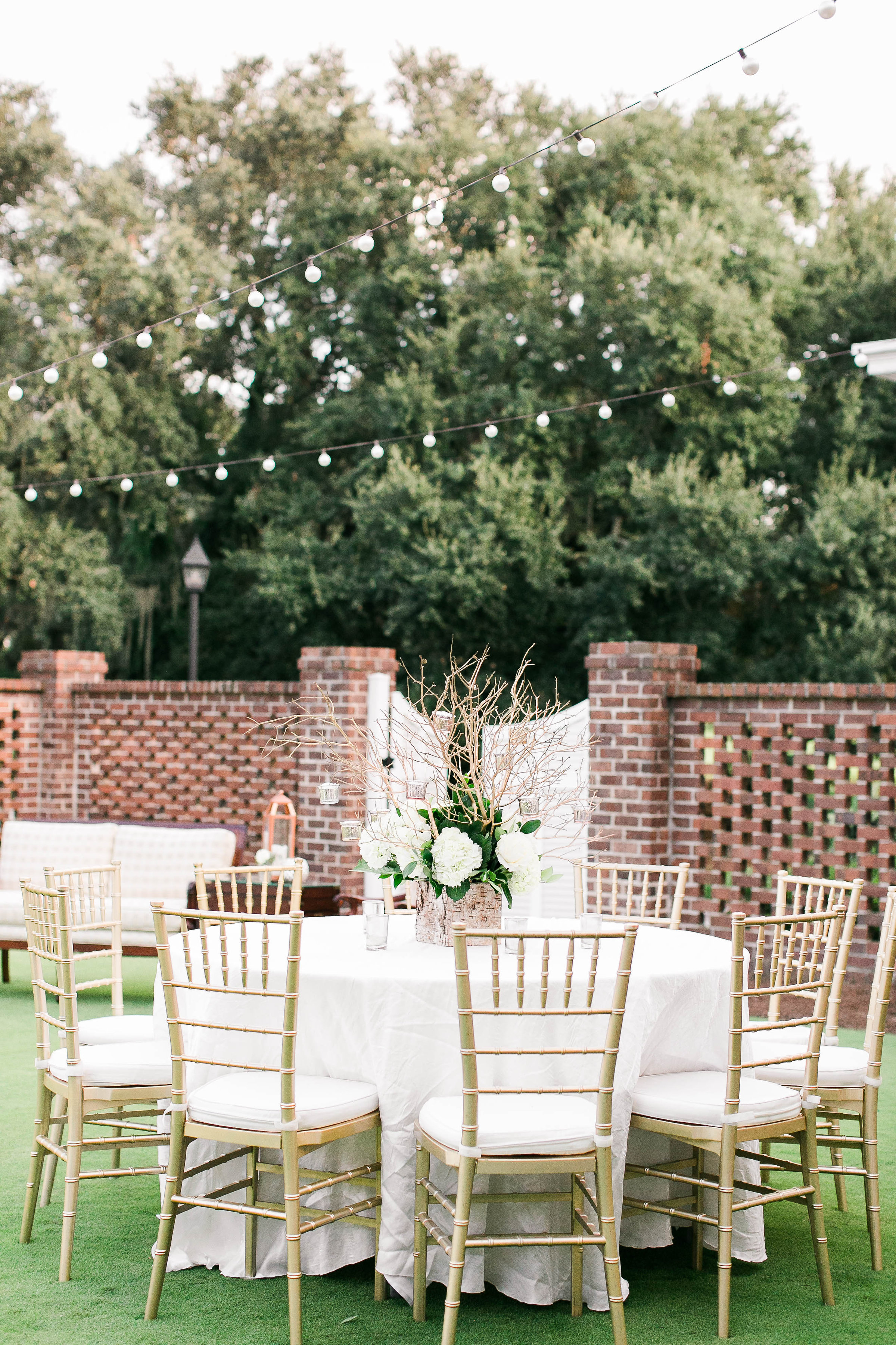 Gold and white Savannah Golf Club wedding by JB Marie Photography