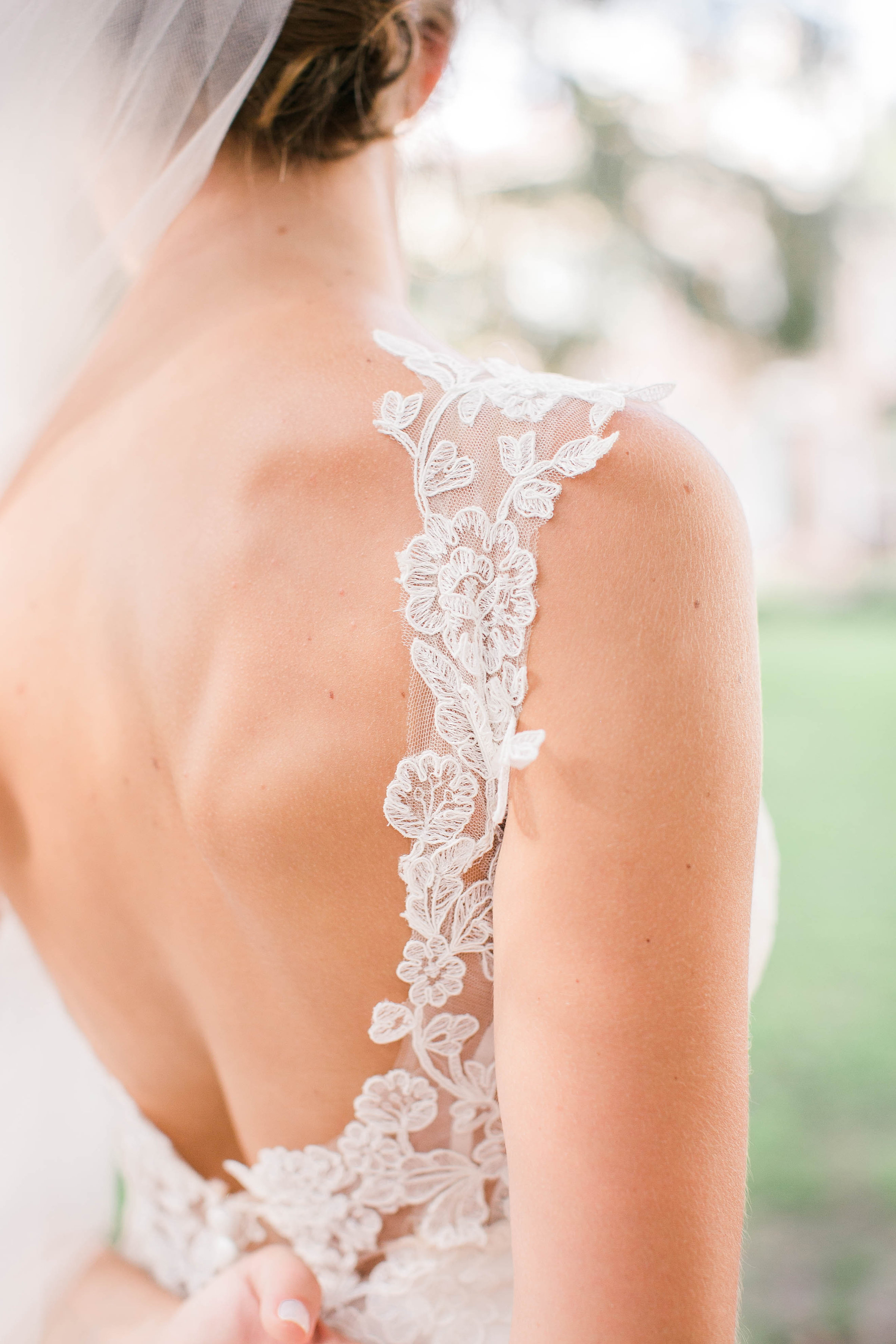 Open back on Martina Liana wedding gown from Bleubelle Bridal in Savannah, GA