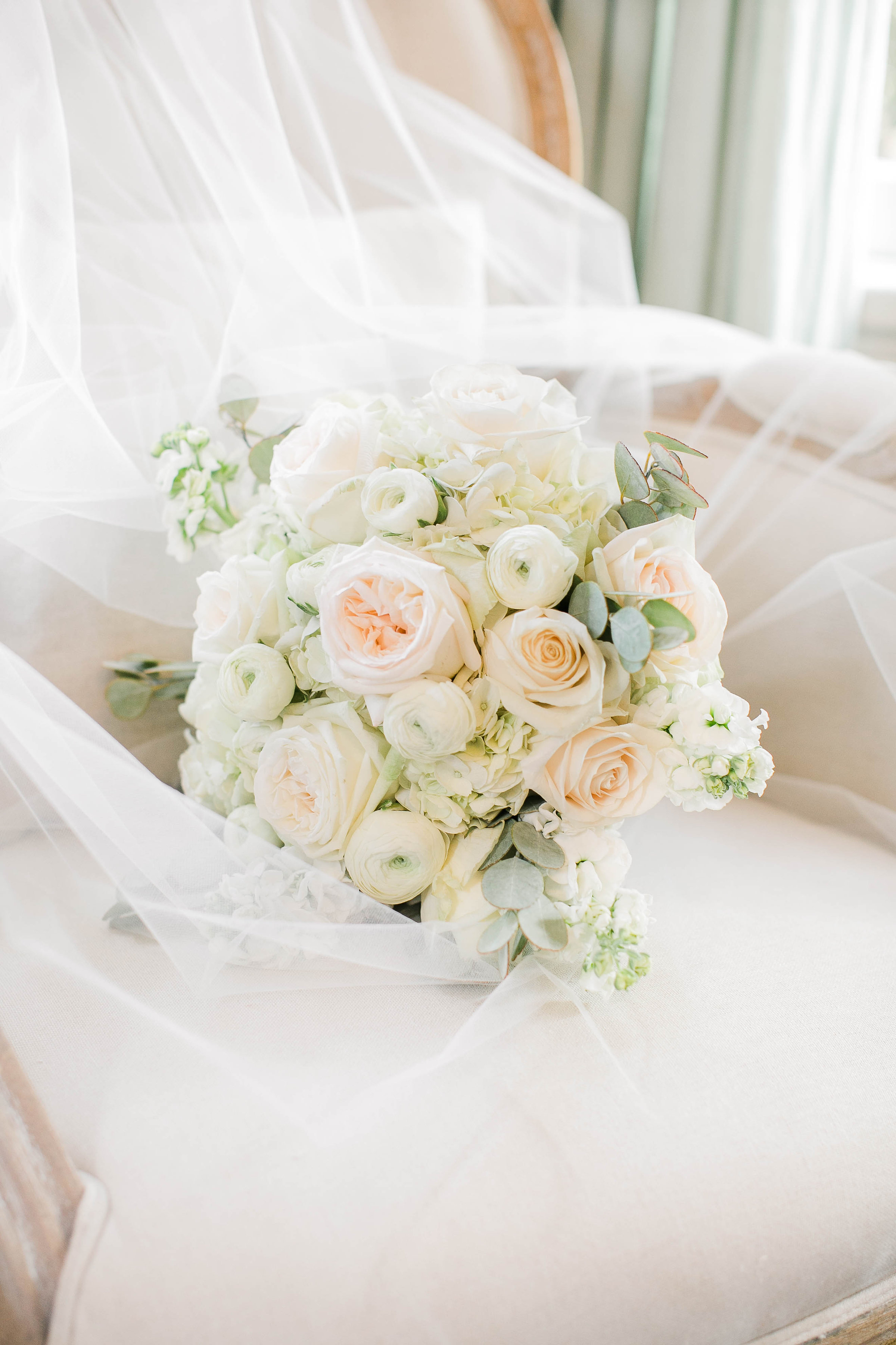 All-white bouquet from Fernwood Floral