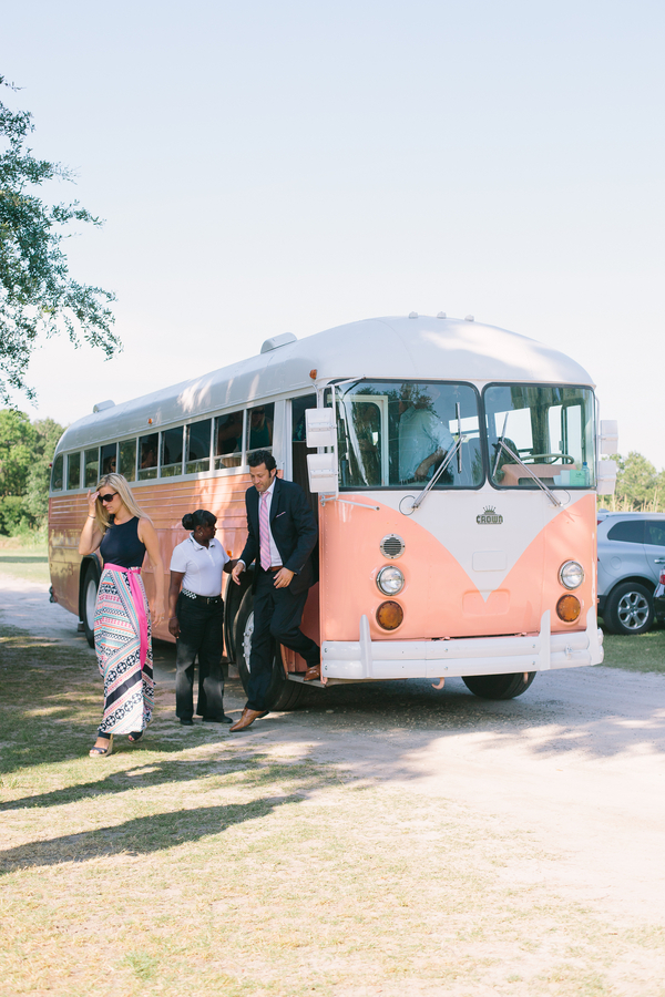Pink VW Bus from Lowcountry Valet & Shuttle Co. at the Island House