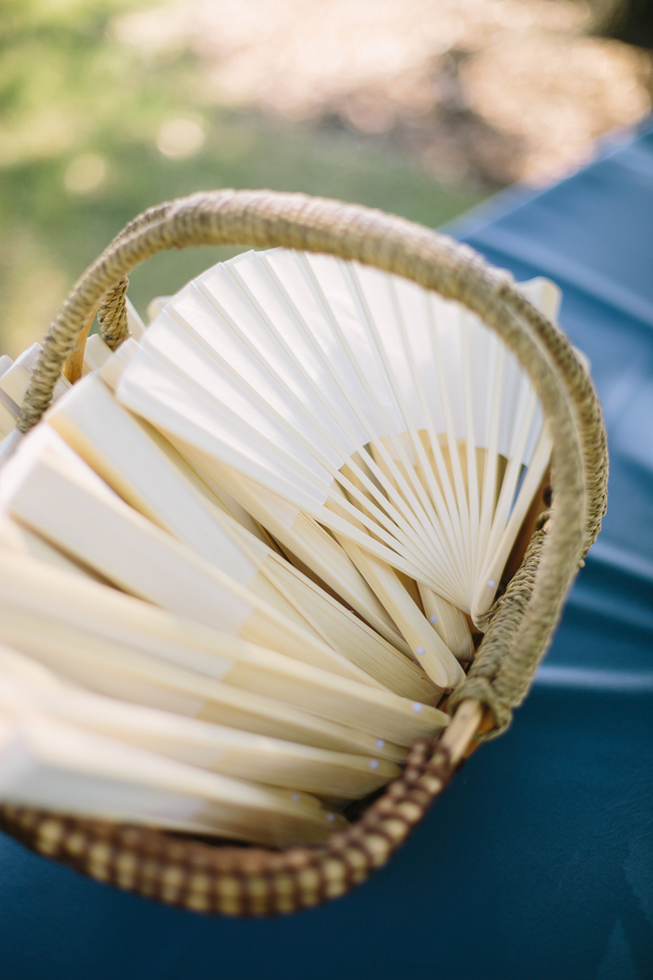 Fans for Summer wedding at The Island House by Riverland Studios