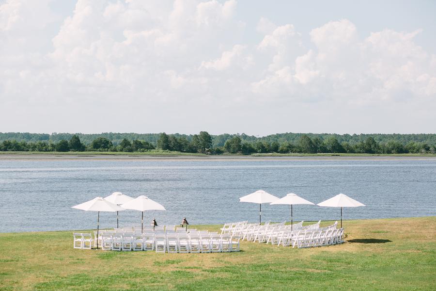 Coastal wedding ceremony on the Stono River at The Island House on Johns Island, SC