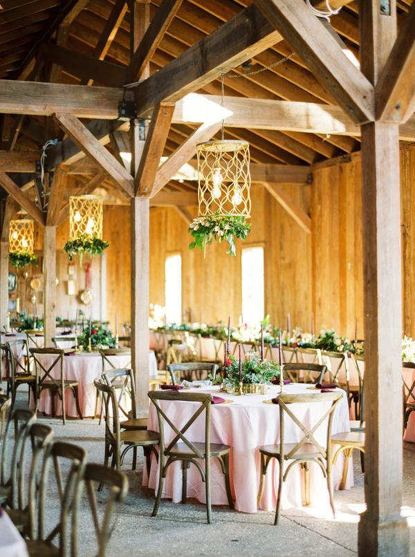 Blush, Burgundy & Gold Boone Hall Plantation wedding by Yoj Events