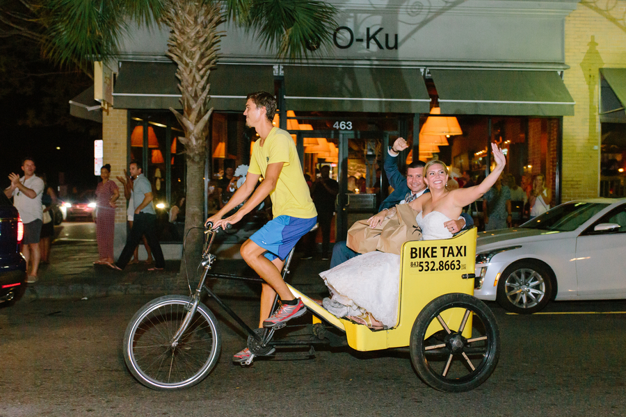 Charleston wedding rickshaw ride at The William Aiken House