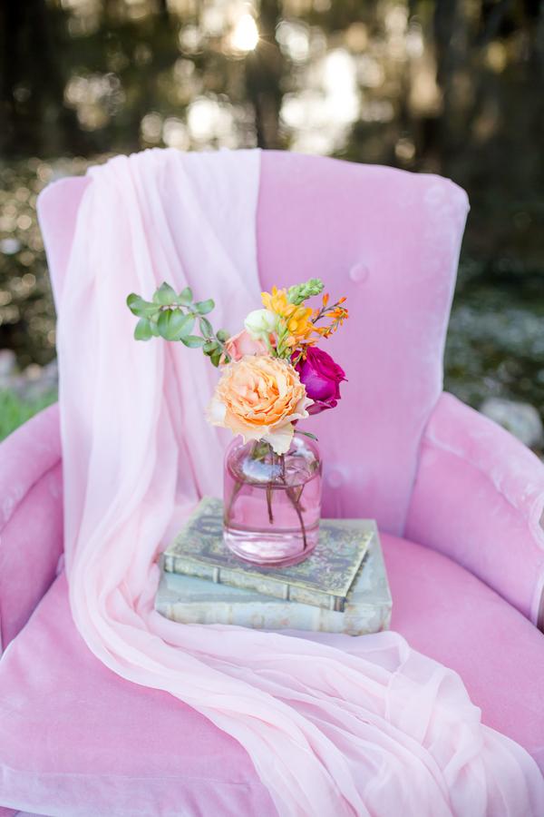 Vintage Pink chair from 428 Main at Magnolia Plantation