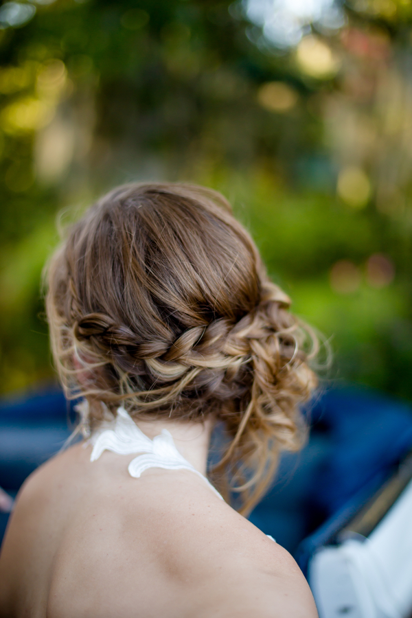 Braided wedding up-do by Paper Dolls Wedding Hair & Makeup