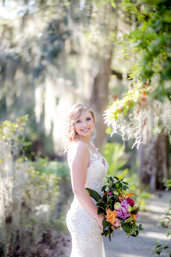 Bride at Lowcountry wedding in Charleston, SC