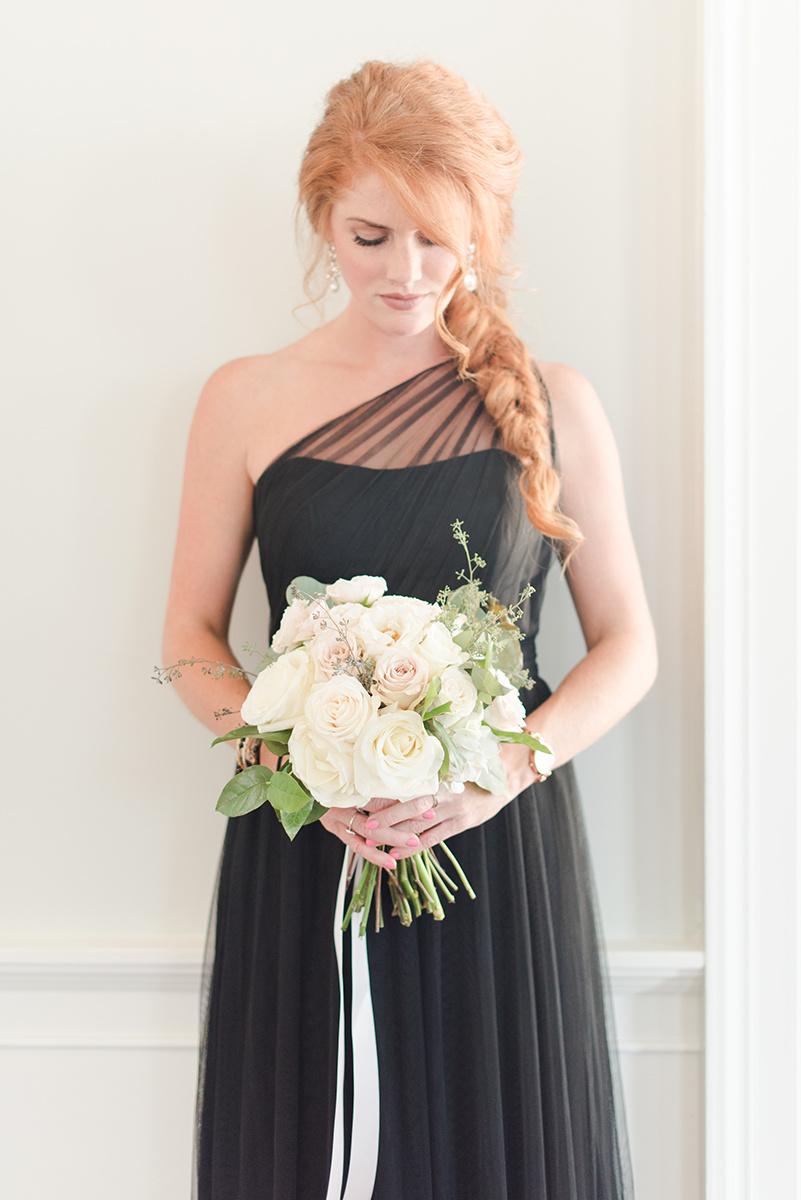 Black & White Gadsden House wedding inspiration by Candi Leonard Photography