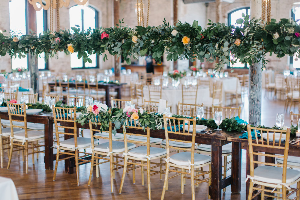 Colorful Charleston wedding at The Cedar Room by shannon michele photography