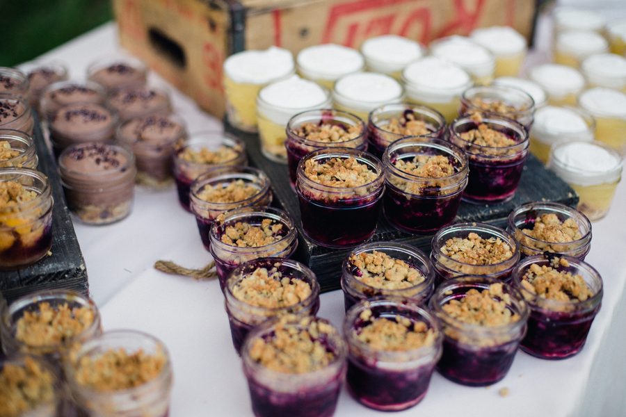 Miniature blueberry cobbler desserts by Duvall Events at Magnolia Plantation wedding in Charleston, South Carolina  //  Charleston wedding caterer on A Lowcountry Wedding Magazine