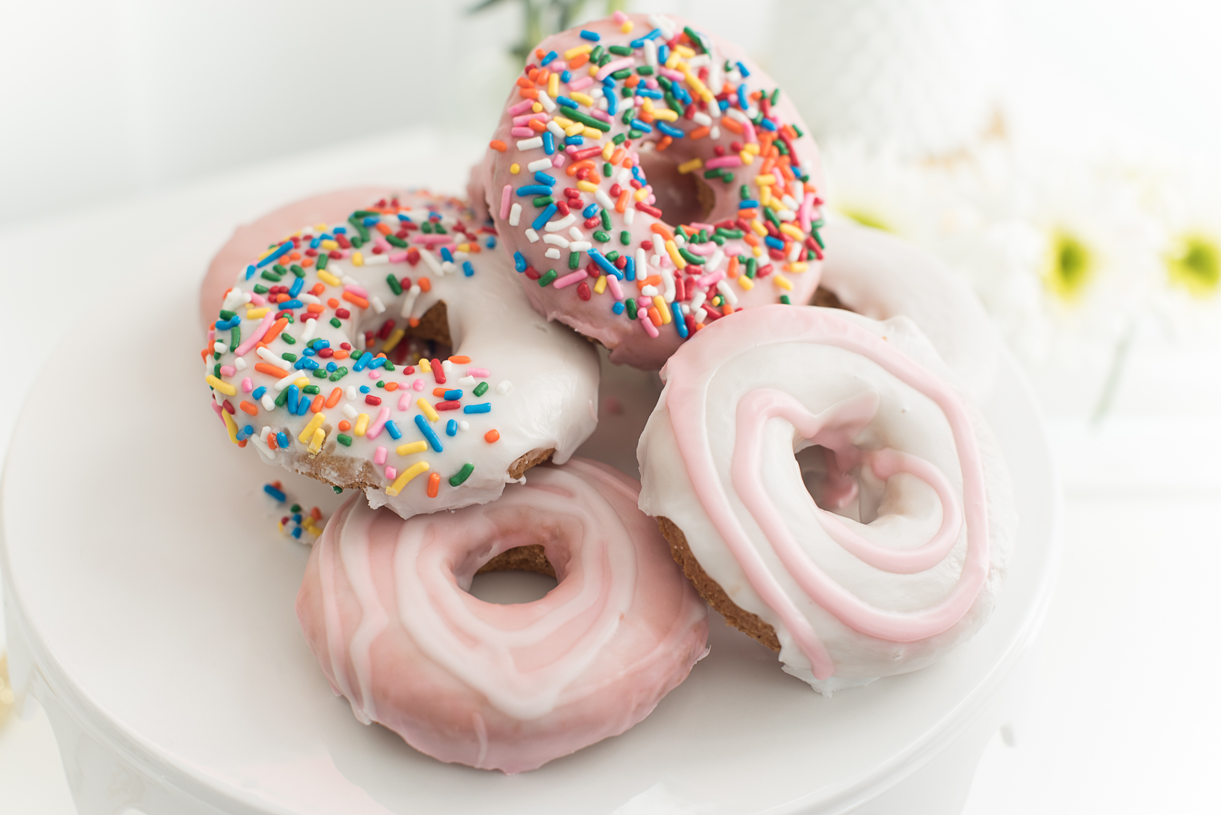 Pink and white sprinkled doughnuts  //  designed by Cayleigh Hopkins of The Petal Report  //  on A Lowcountry Wedding Magazine