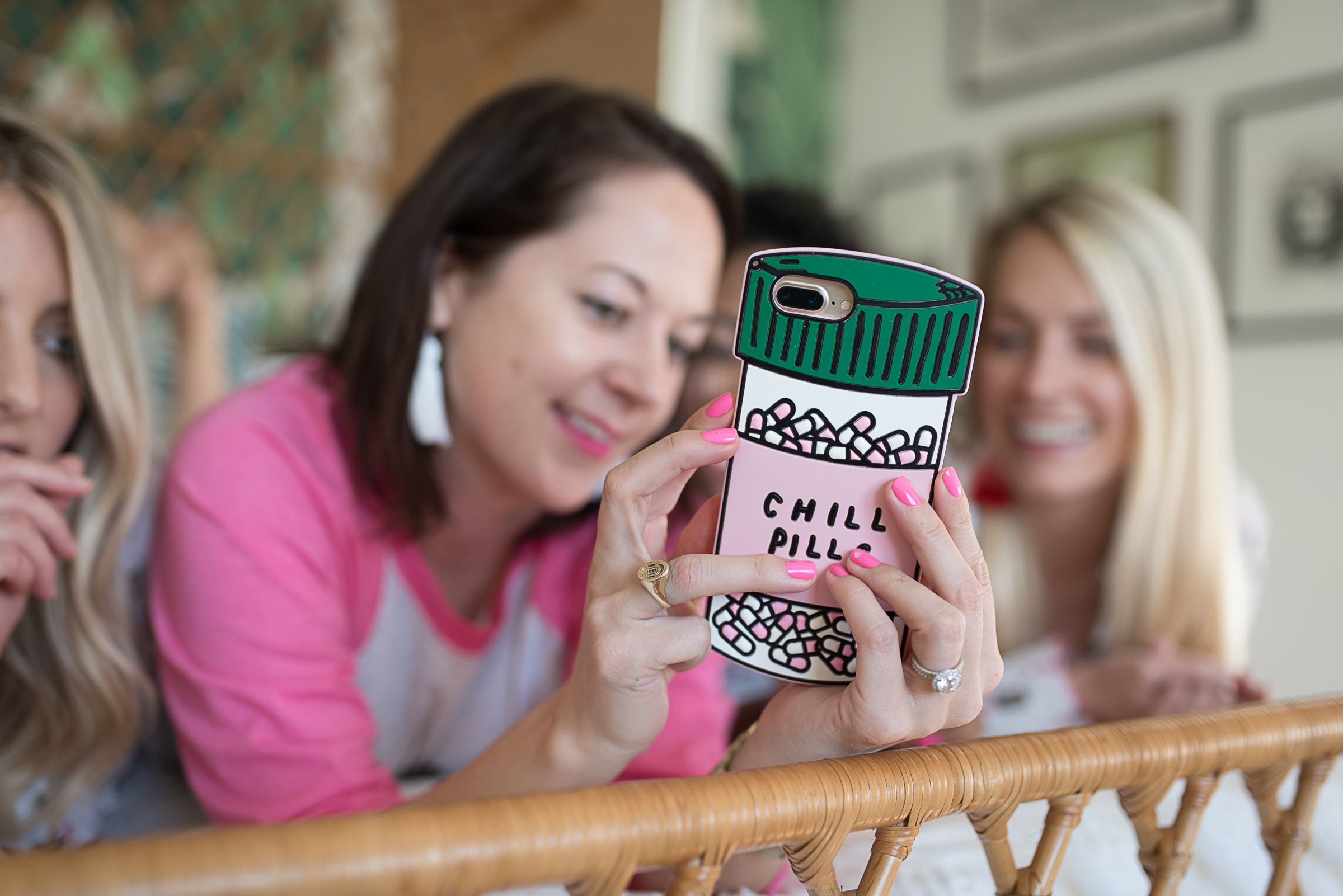 Chill Pill phone case  //  designed by Cayleigh Hopkins of The Petal Report  //  on A Lowcountry Wedding Magazine